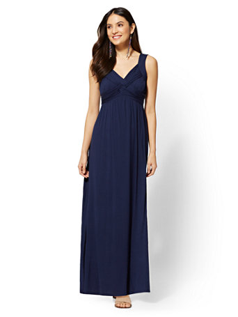 Goddess Crossover Maxi Dress by New York & Company