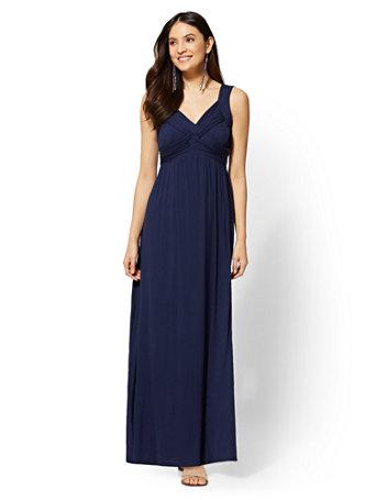 Goddess Crossover Maxi Dress by New York & Company