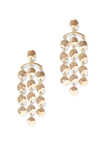 Goldtone Chandelier Earring by New York & Company