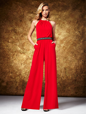 NY&C: Halter Jumpsuit - Red