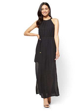 NY&C: Halter Maxi Dress - Black