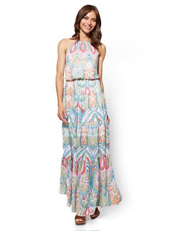 NY&C: Halter Maxi Dress - Paisley