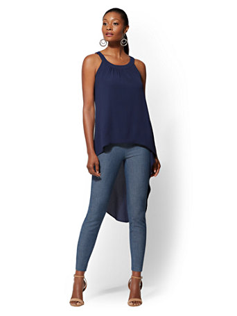 Hi Lo Halter Blouse by New York & Company