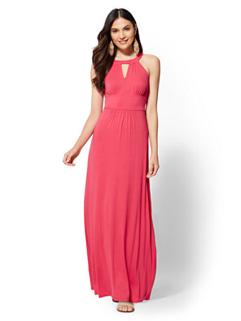 Knit Halter Maxi Dress by New York & Company