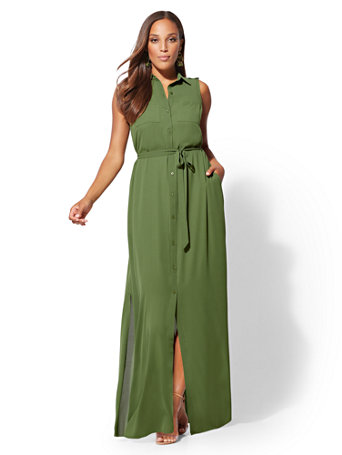 Maxi Shirtdress | Tuggl