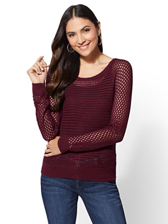Open Stitch Sweater by New York & Company
