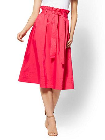 Paperbag Waist Full Skirt by New York & Company