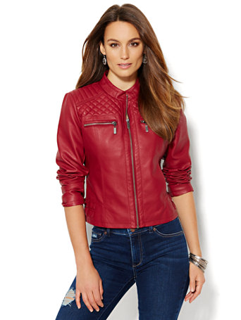 NY&C: Quilted Moto Jacket : quilted moto jacket - Adamdwight.com