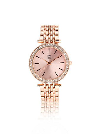 Rose Goldtone Watch by New York & Company