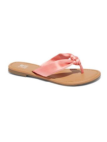 Satin Knot Flip Flop Sandal by New York & Company