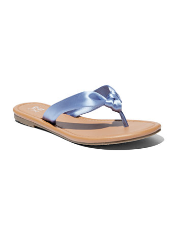 Satin Knot Flip Flop Sandal by New York & Company