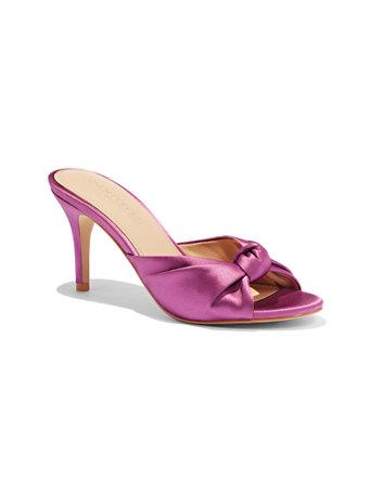 Satin Knot Sandal by New York & Company