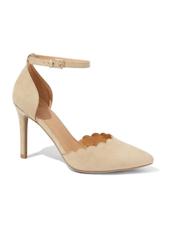 Scallop Edge Ankle Strap Pump by New York & Company