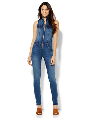 NY&C: Soho Jeans - Denim Jumpsuit - Southern Blue Wash
