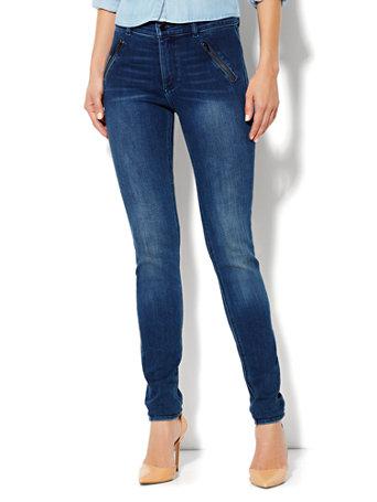 NY&C: Soho Jeans - High-Waist Legging - Blue Wash