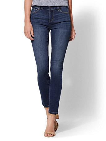 Soho Jeans   High Waist Skinny   Force Blue by New York & Company