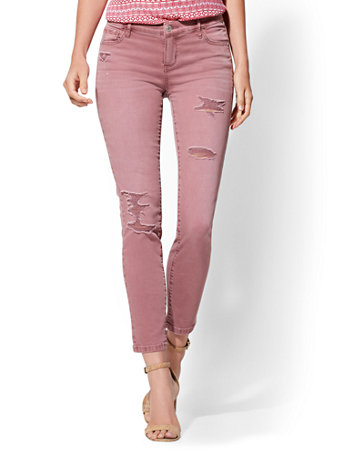 Soho Jeans   Ny&C Runway   Destroyed Ankle Legging   Rose by New York & Company