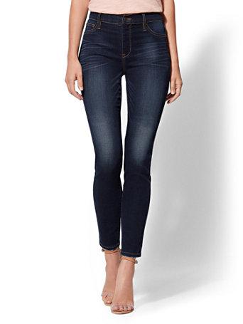 Soho Jeans   Ny&C Runway   High Waist Pull On Legging   Dark Blue by New York & Company