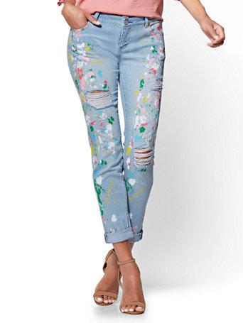 Ny Amp C Soho Jeans Painted Boyfriend
