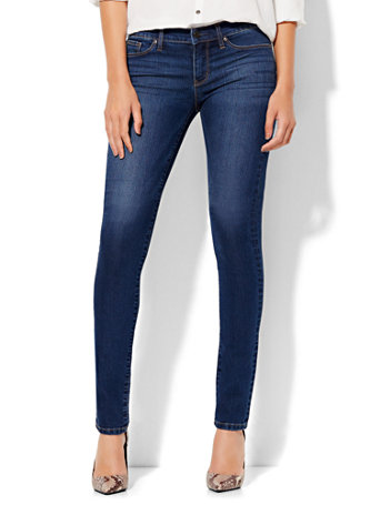Soho Jeans   Tall Mid Rise Skinny   Force Blue Wash by New York & Company
