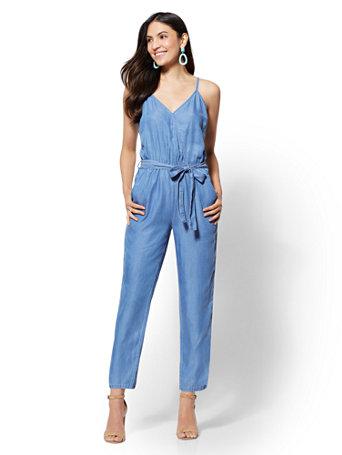 Soho Jeans   Ultra Soft Chambray Jumpsuit by New York & Company