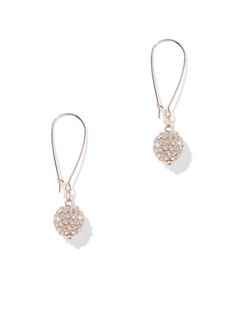 Sparkling Pave-Accented Spherical Drop Earring | Tuggl