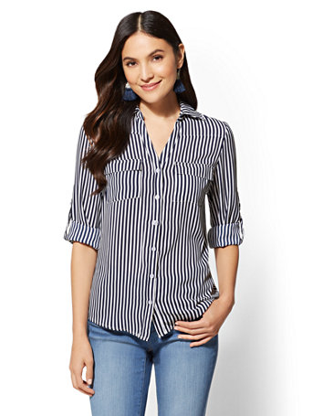 Striped Soho Soft Shirt by New York & Company