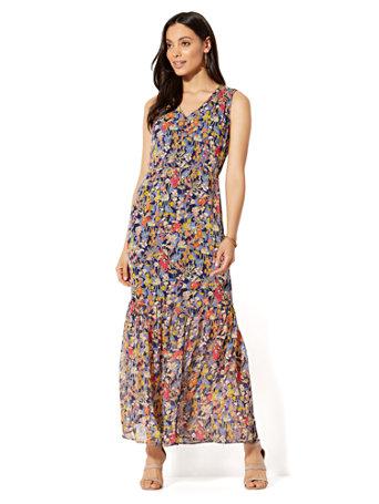 NY&C: V-Neck Maxi Dress - Floral