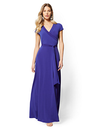 Shoptagr Wrap Maxi Dress By New York Company