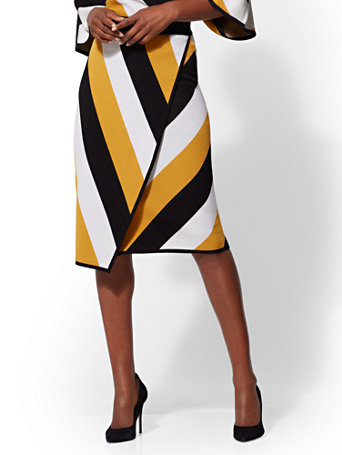 Wrap Pull-On Pencil Skirt | Tuggl