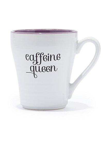 """""""Caffeine Queen"""" Ceramic Mug - New York & Company"""