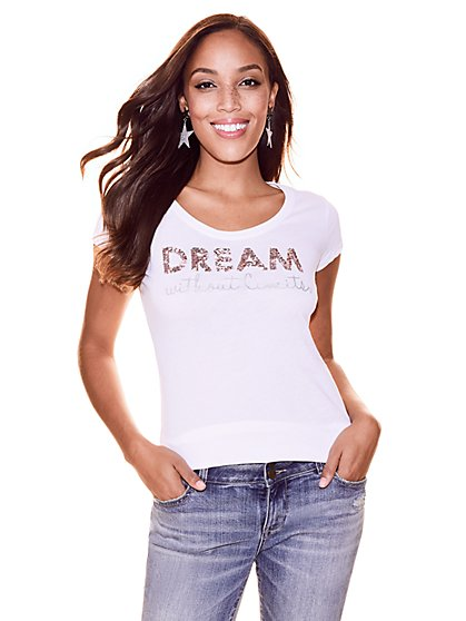 """Dream Without Limits"" Graphic Logo Tee - New York & Company"