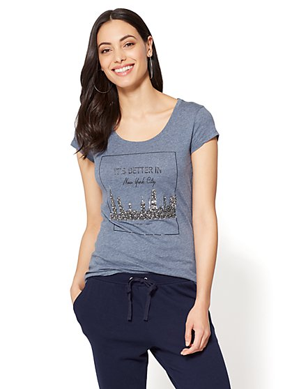 """""""It's Better in New York City"""" Graphic Logo Tee - New York & Company"""