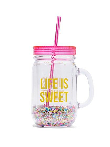 """Life Is Sweet"" Mug - New York & Company"