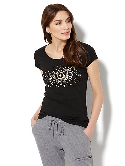 """Love"" Graphic Logo Tee - New York & Company"