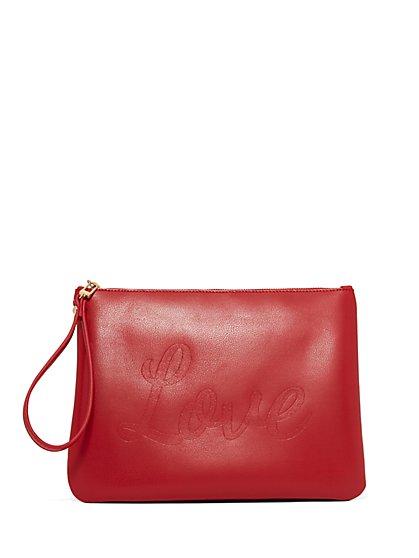"""Love"" Pochette - Red - New York & Company"