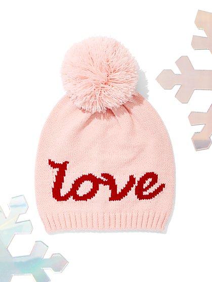 """Love"" Pom-Pom Hat - New York & Company"