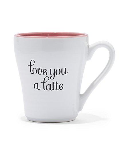 """""""Love You a Latte"""" Ceramic Mug - New York & Company"""