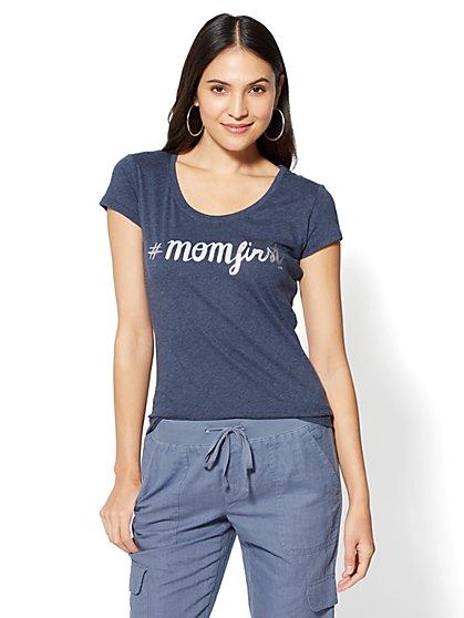 """#Momfirst"" Graphic Logo Tee - New York & Company"