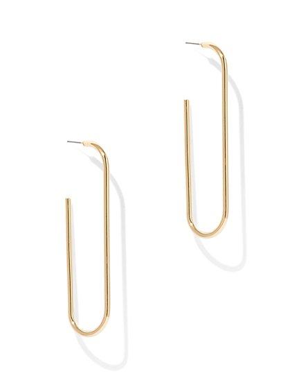 """Paper Clip"" Drop Earring  - New York & Company"