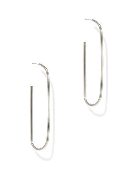 """Paper Clip"" Drop Earring  - New York & Company"