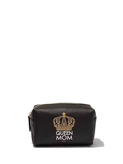 """Queen Mom"" Cosmetic Case  - New York & Company"