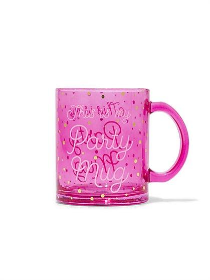 """""""This is My Party Mug"""" Glass Mug - New York & Company"""