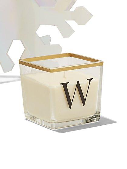 """W"" Monogram Candle - New York & Company"