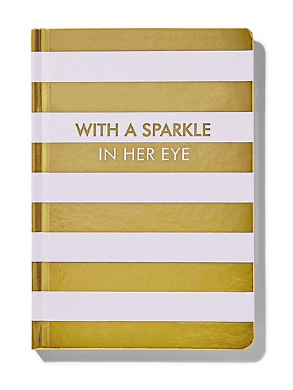 """With a Sparkle In Her Eye"" Notebook - New York & Company"