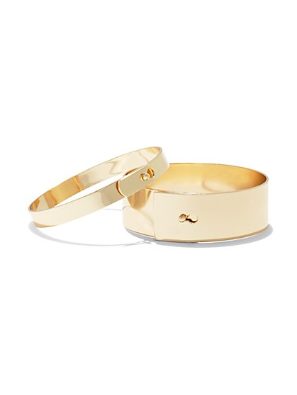 2-Piece Bangle Bracelet Set  - New York & Company