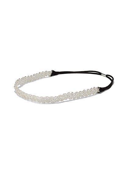 2-Piece Hair Clip Set / Beaded Headband - New York & Company
