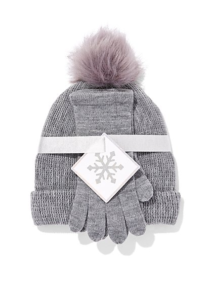 2-Piece Hat & Gloves Set - New York & Company