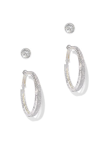 2-Piece Hoop & Post Earring Set  - New York & Company