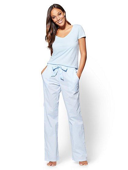 2-Piece Pajama Set - Gingham - New York & Company